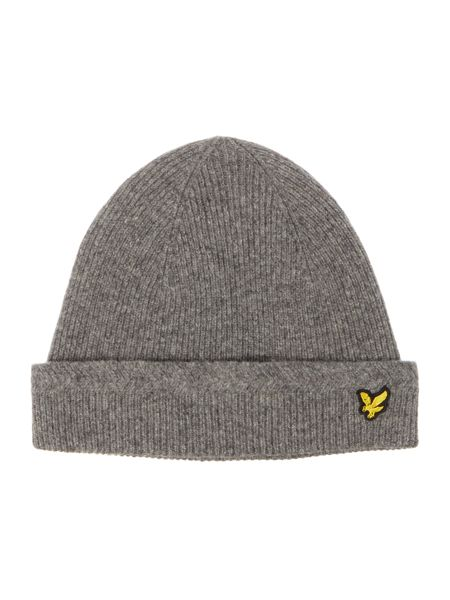 Lyle and Scott Classic ribbed beanie hat