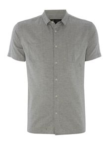 Label Lab Faro Washed Herringbone Shirt