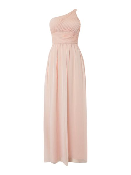 Adrianna Papell One shoulder chiffon gown