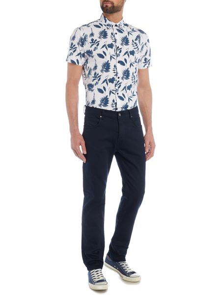 Linea Burns Floral Monochrome Short Sleeve Shirt