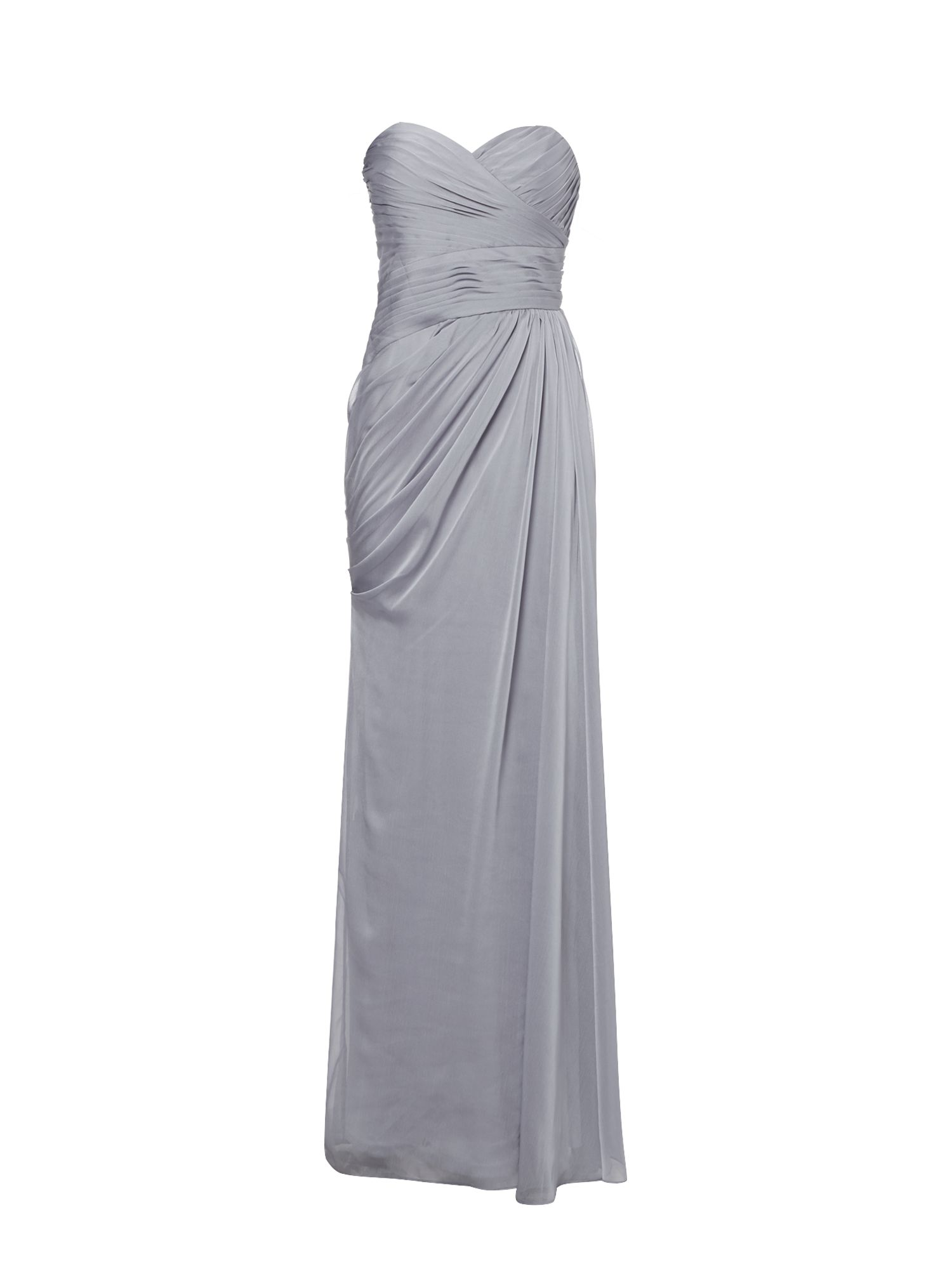 Adrianna Papell Strapless chiffon gown, Mauve