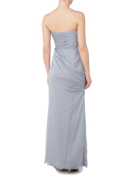 Adrianna Papell Strapless chiffon gown