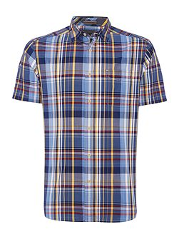 Newton check short sleeve shirt