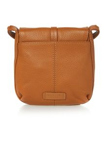 Radley Grosvenor tan small flap over cross body bag