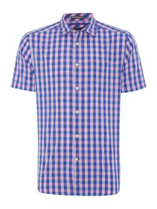 Howick Allenhurst gingham short sleeve shirt