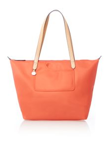 Pocket essentials orange large tote bag