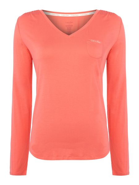 Calvin Klein V neck long sleeve tshirt