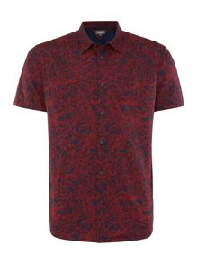 Linea Marsh Leaf-Print Short-Sleeve Shirt