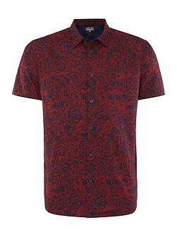 Men's Linea Marsh Leaf-Print Short-Sleeve Shirt