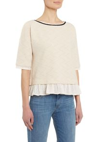 Marella Strofa half sleeve top with back detail