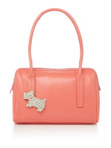 Radley Pickwick orange large barrel tote bag