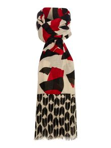 Linea Maxine Cut Out Print Poly Twill Scarf