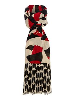 Maxine Cut Out Print Poly Twill Scarf