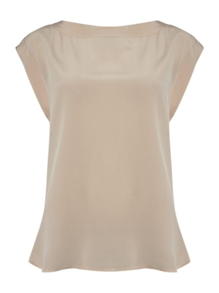 Marella Alamaro short sleeve wide v -neck top