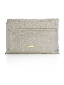Juno Gold chain quilted clutch bag
