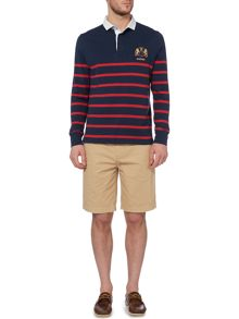 Howick St Malo long sleeve striped rugby shirt