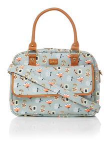 Ollie & Nic Bloom light blue baby bag