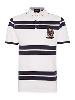 Lincoln Stripe Slim Fit Short Sleeve Rugby