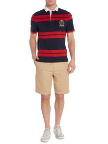 Howick Lincoln Stripe Slim Fit Short Sleeve Rugby
