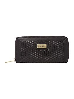 Kane black ziparound purse