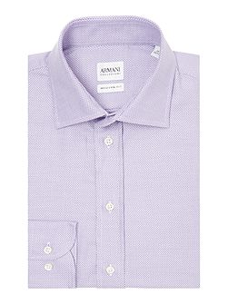 Regular Lilac Texture Shirt
