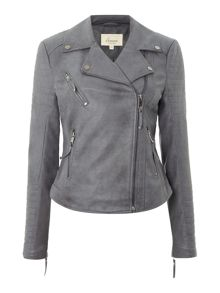 Dakota quilted pu biker