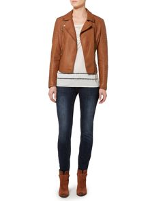 Linea Weekend Dakota quilted pu biker