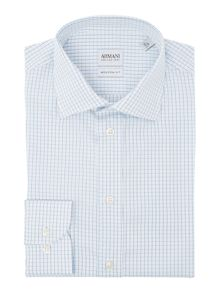Armani Collezioni Regular Grid Check Shirt