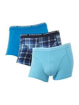 3 pack of check & plain trunk