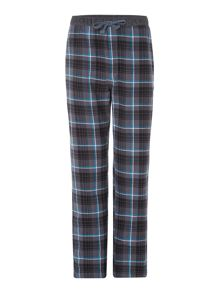 Classic check cotton flannel pant