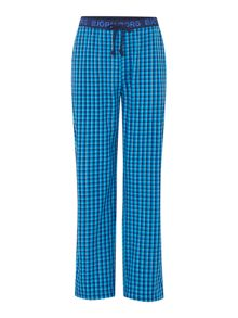 Mini check poplin pants