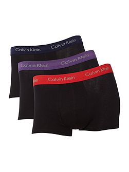 Men's Calvin Klein 3 pack low rise contrast