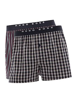 2 pack check and stripe boxer