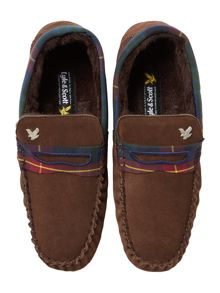 Lyle and Scott Talla Suede Slippers