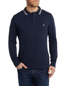 Long sleeve duo polo shirt