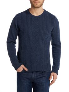 Dour aran cable sweater
