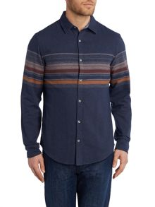 Original Penguin Plateau stripe long sleeve shirt