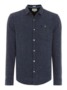 Original Penguin Long sleeve clue double face shirt