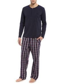 Hugo Boss Check Cotton Top and Pants Box