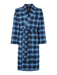 Flannel Check Robe