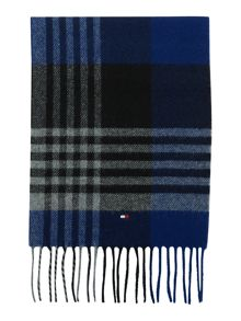 Caleb large check scarf