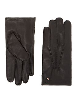 Leather gloves in gift box