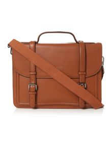 Ted Baker Jagala raised edge leather satchel