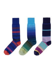 3 pack of mixed striped socks