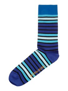 Woodline stripe ankle sock