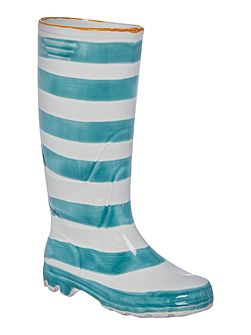 Stripe large welly boot