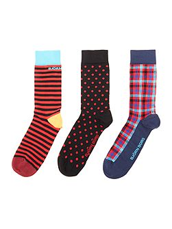 Men's Bjorn Borg 3 pack X-mas stripe, check