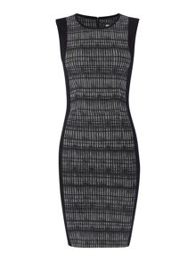 Calvin Klein Sleeveless ruth dress with grid print