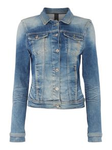 Denim jet trucker jacket
