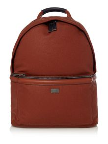 Ted Baker Brandor canvas and leather backpack
